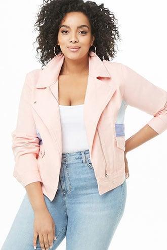 Forever21 Plus Size Colorblock Denim Jacket