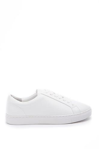 Forever21 Men Faux Leather Low-top Sneakers