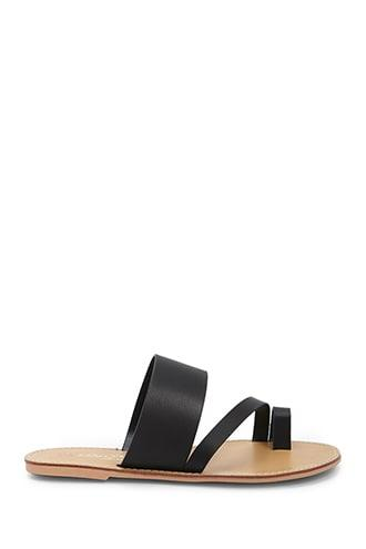 Forever21 Faux Leather Toe Sandals