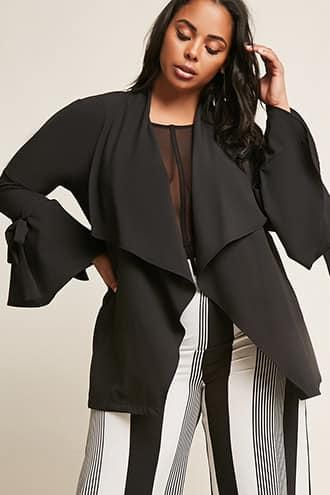 Forever21 Plus Size Black Ivy Open-front Cardigan