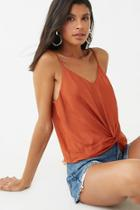 Forever21 Satin Twist-front Cami