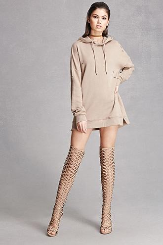 Forever21 Thigh-high Caged Boots