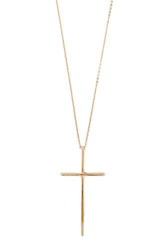 Forever21 Gold Cross Pendant Necklace