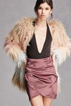 Forever21 Satin Tulip-hem Skirt