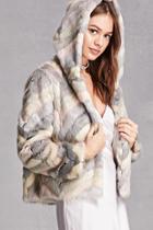 Forever21 Blush Noir Faux Fur Jacket