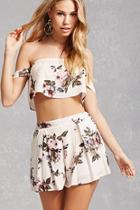 Forever21 Floral Pleated Shorts