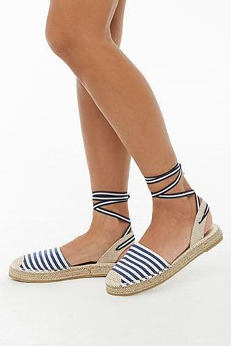 Forever21 Striped Espadrille Flats
