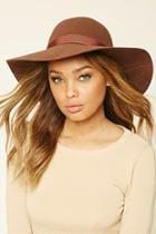 Forever21 Women's  Brown Wide-brim Wool Hat