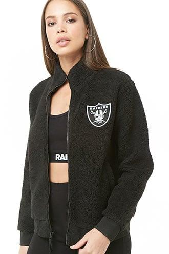 Forever21 Faux Shearling Raiders Jacket