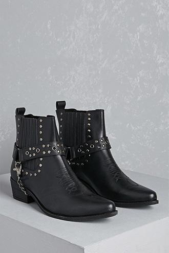 Forever21 Y.r.u. Studded Leather Booties