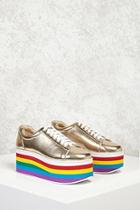 Forever21 Platform Metallic Sneakers