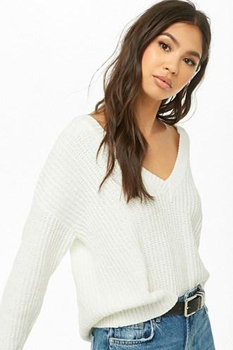 Forever21 Drop-shoulder Chenille Sweater