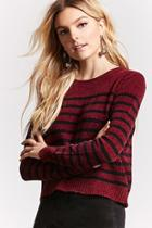 Forever21 Stripe Chenille Knit Sweater