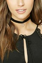 Forever21 Love Choker And Necklace Set
