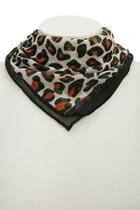 Forever21 Chiffon Leopard Print Scarf