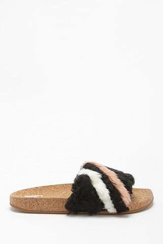 Forever21 Lfl By Lust For Life Faux Fur Slides
