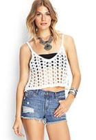 Forever21 Open-knit Crop Top