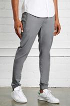 21 Men Men's  Grey Slim-fit Woven Joggers