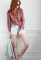 Forever21 Buttoned-front Denim Shorts