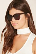 Forever21 Brown Mirrored Cat Eye Sunglasses