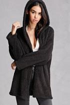 Forever21 Plush Hooded Jacket