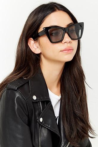 Forever21 Square Cateye Plastic Sunglasses