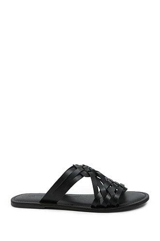 Forever21 Basketweave Open Toe Sandals
