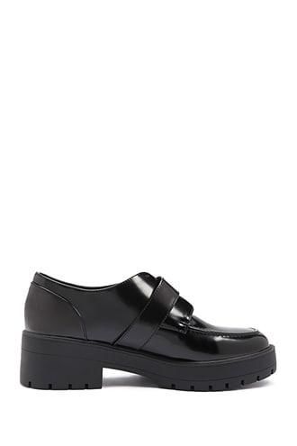 Forever21 Faux Patent Leather Buckle Oxfords