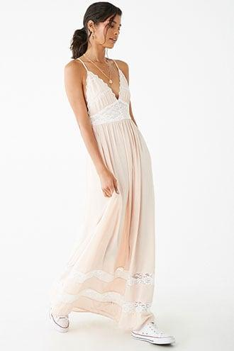 Forever21 Lace-trim Cami Maxi Dress