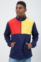 Forever21 Fleece Colorblock Pullover