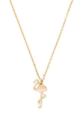 Forever21 Flamingo Pendant Necklace