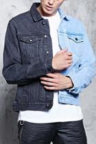 Forever21 Colorblock Denim Jacket
