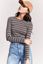 Forever21 Ribbed Knit Stripe Top
