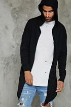 Forever21 Open-front Hooded Cardigan