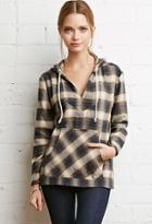 Forever21 Plaid Hooded Pullover