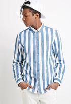 Forever21 Broad-striped Cotton Shirt