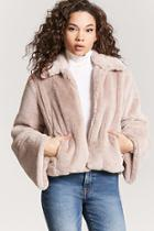 Forever21 Faux Fur Flare Sleeve Jacket