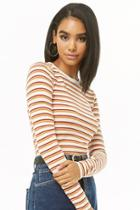 Forever21 Striped Long-sleeve Top
