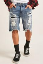 Forever21 Victorious Distressed Denim Shorts