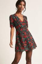 Forever21 Floral Polka Dot Dress