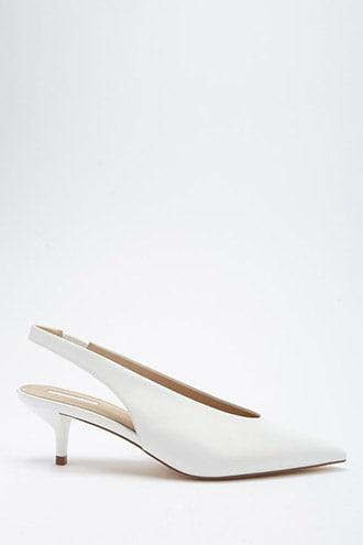 Forever21 Faux Leather Slingback Heels