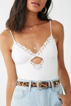 Forever21 Embroidered Lace Cami Bodysuit