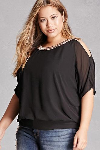Forever21 Plus Size Soieblu Top
