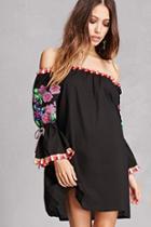 Forever21 Tassel-trim Mini Dress