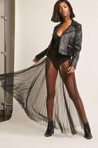 Forever21 Sheer Pleated Maxi Skirt
