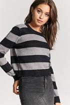 Forever21 Striped Purl Knit Sweater