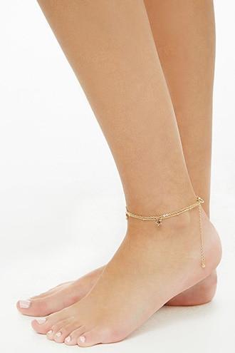Forever21 Layered Star Charm Anklet