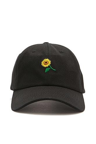 Forever21 Sunflower-embroidered Dad Cap