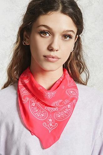 Forever21 Satin Paisley Square Scarf