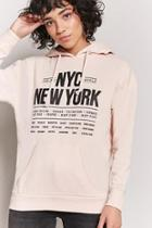 Forever21 Nyc Graphic Drawstring Hoodie
